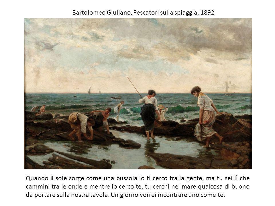 Bartolomeo Giuliano, Pescatori sulla spiaggia, 1892