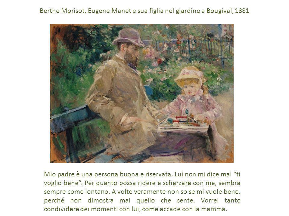 Berthe Morisot, Eugene Manet e sua figlia nel giardino a Bougival, 1881