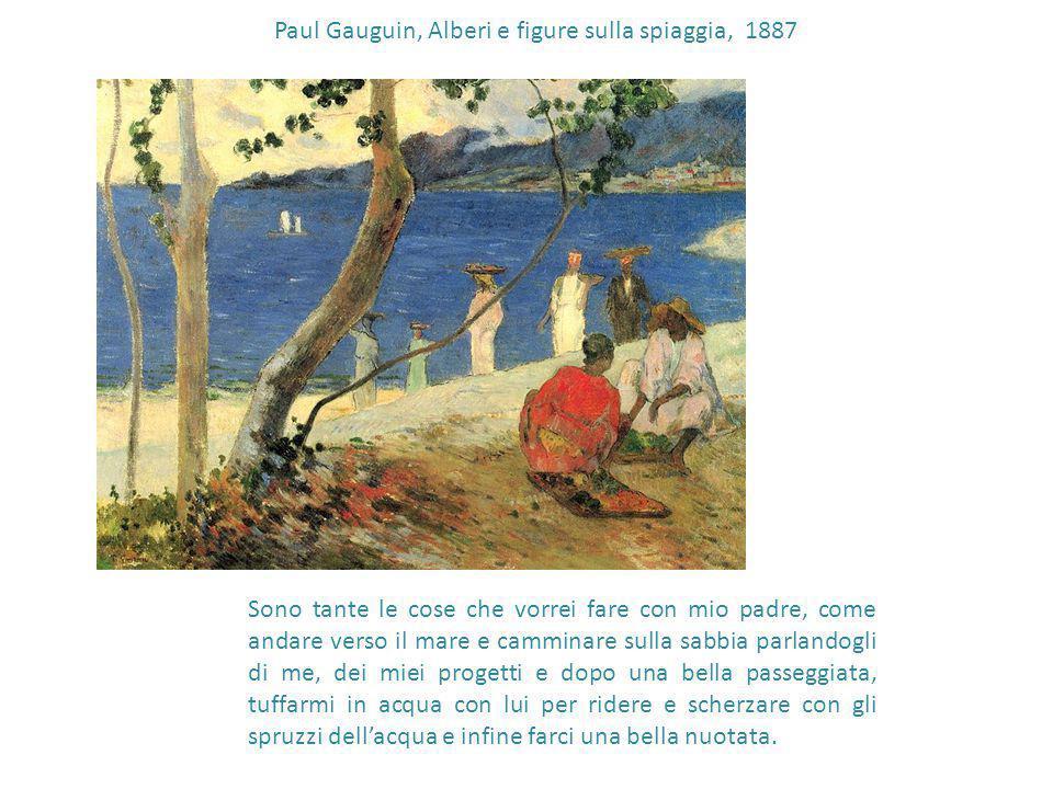 Paul Gauguin, Alberi e figure sulla spiaggia, 1887