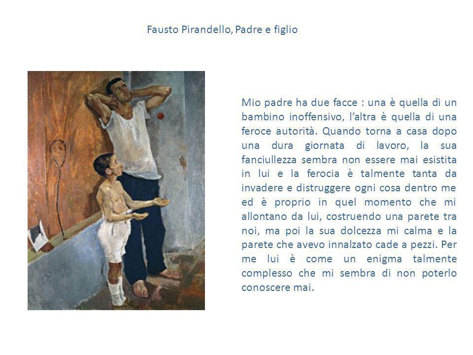 Fausto Pirandello, Padre e figlio