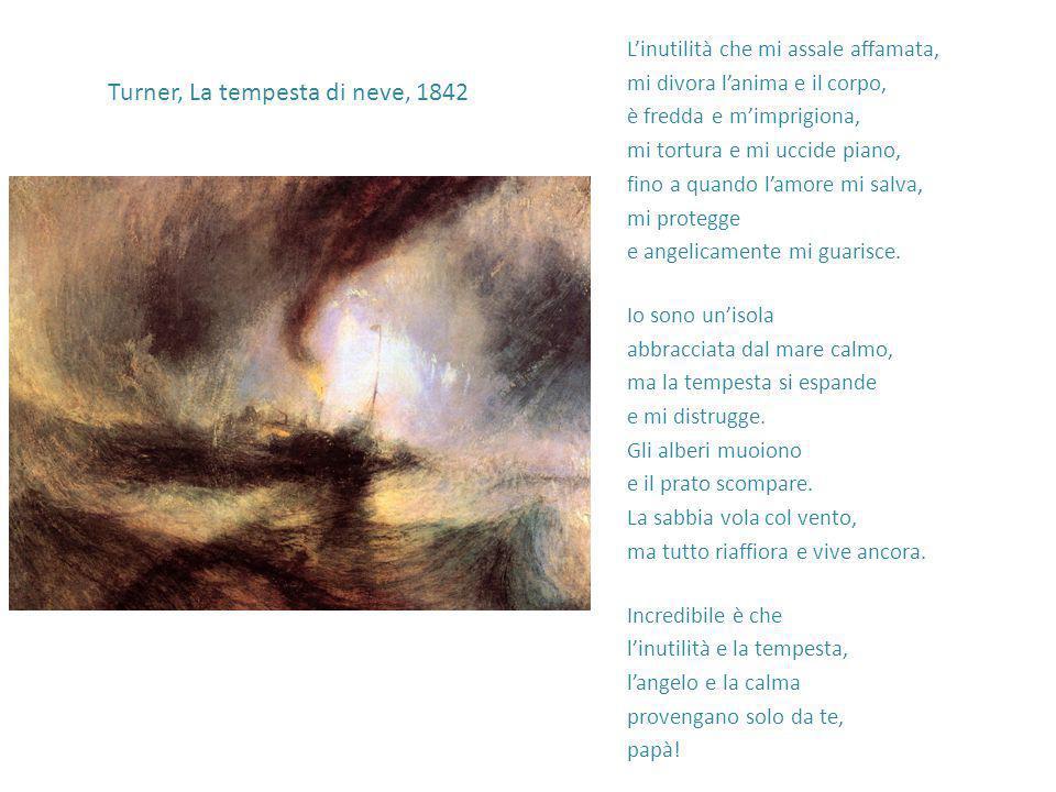 Turner, La tempesta di neve, 1842