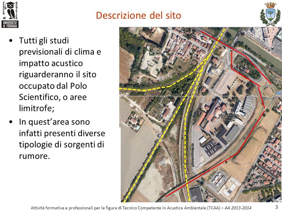 Descrizione del sito Tutti gli studi previsionali di clima e impatto acustico riguarderanno il sito occupato dal Polo Scientifico, o aree limitrofe;