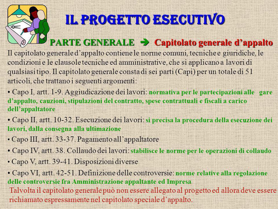 PARTE GENERALE  Capitolato generale d'appalto