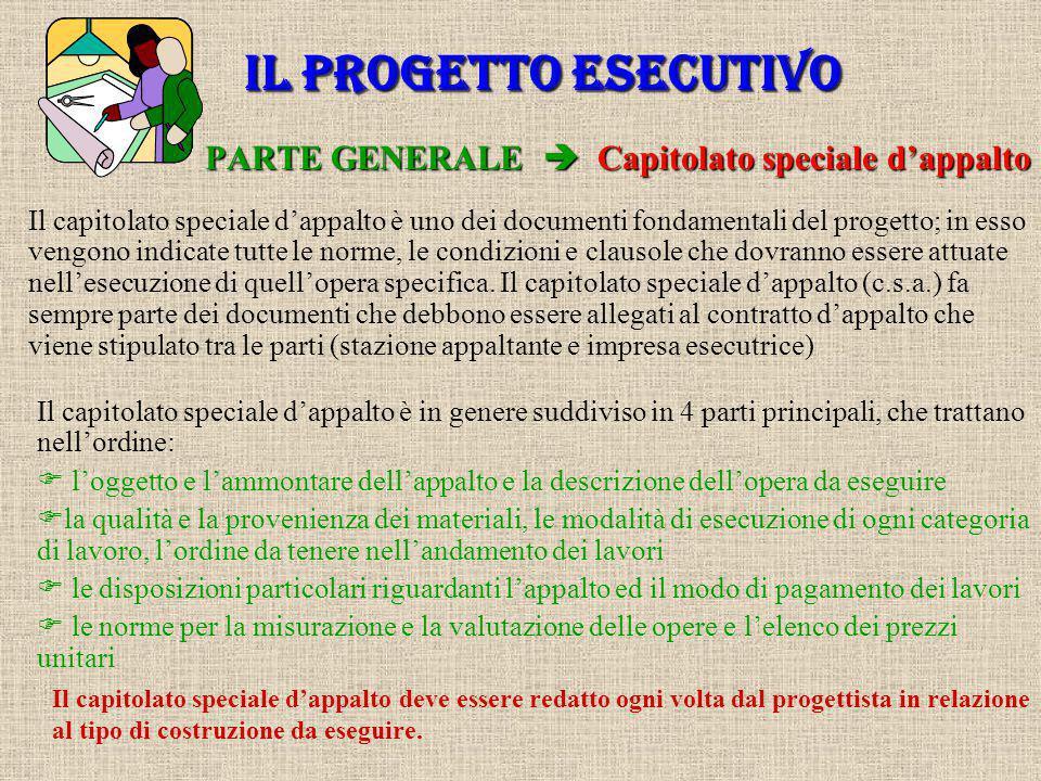 PARTE GENERALE  Capitolato speciale d'appalto