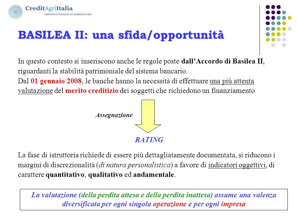 BASILEA II: una sfida/opportunità