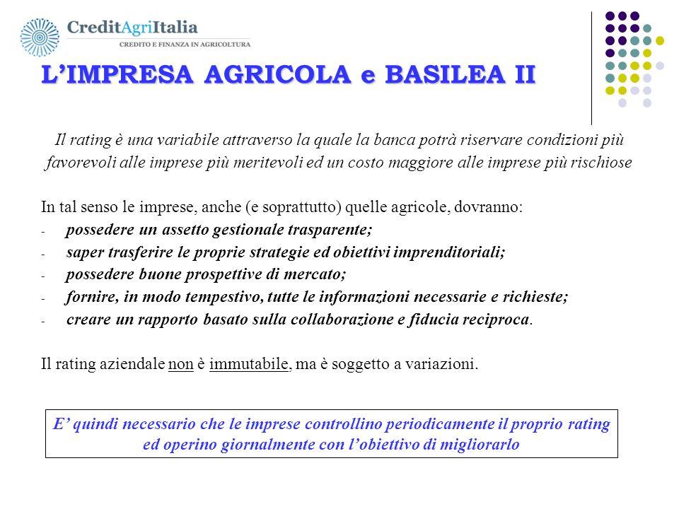 AGRICOLFIDI Ovest-Ovest s.c. L'IMPRESA AGRICOLA e BASILEA II