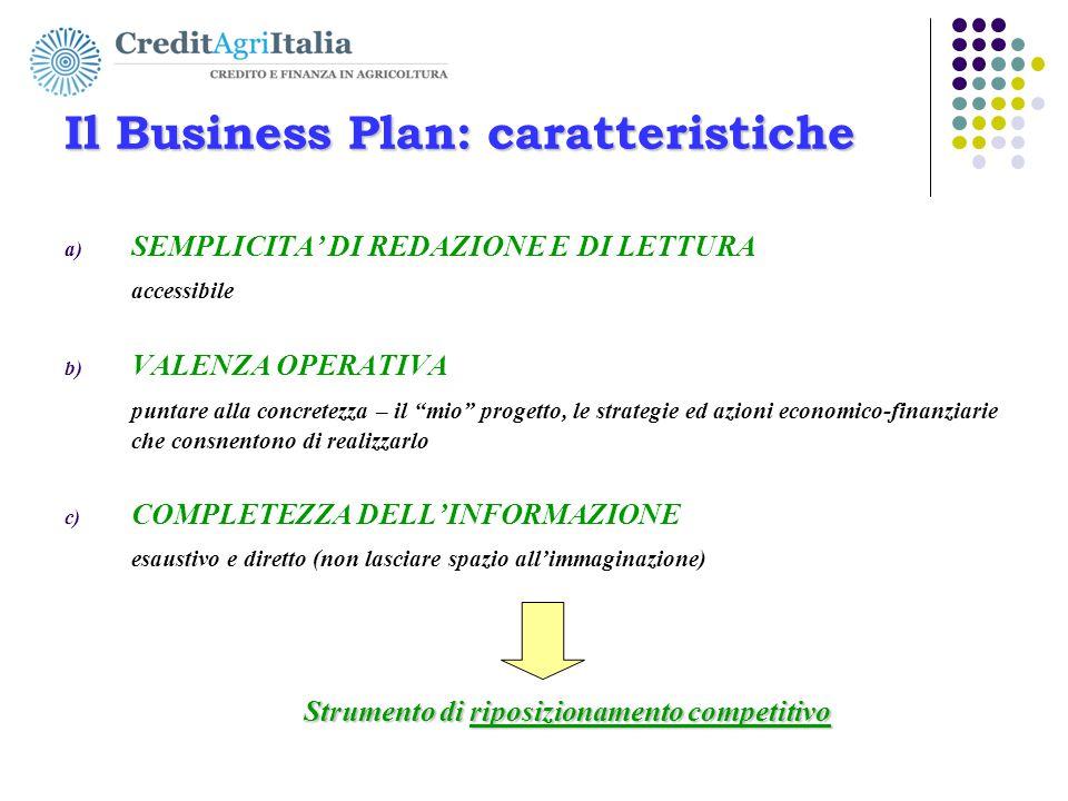 Il Business Plan: caratteristiche
