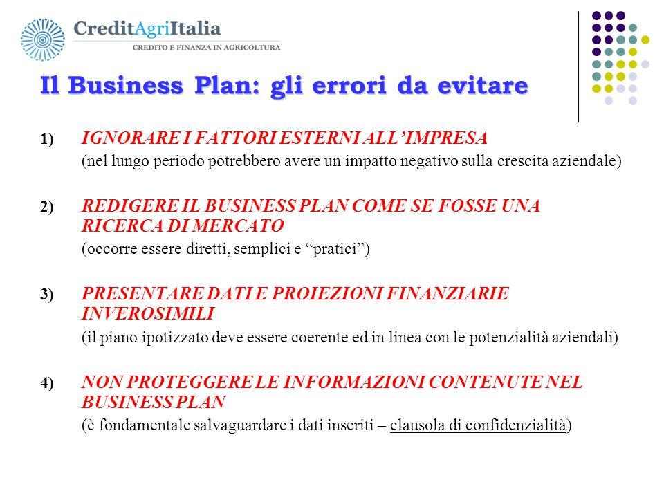 Il Business Plan: gli errori da evitare