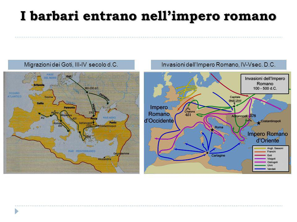 I barbari entrano nell'impero romano