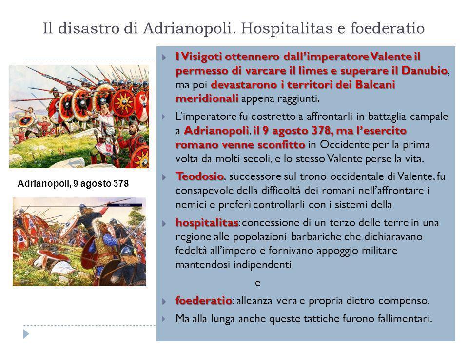 Il disastro di Adrianopoli. Hospitalitas e foederatio
