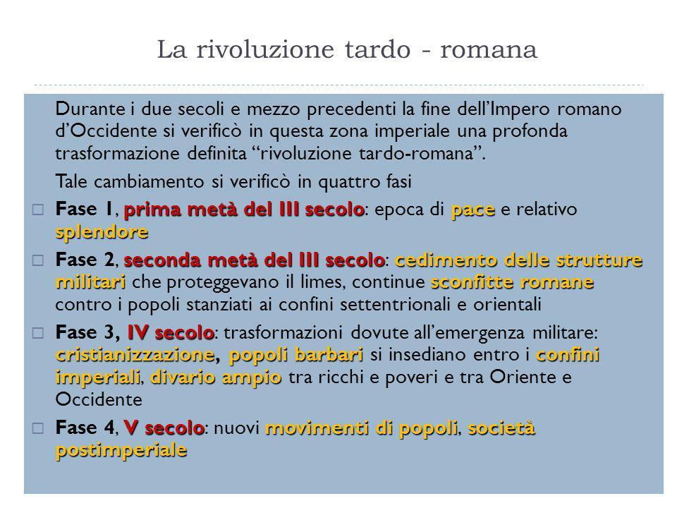 La rivoluzione tardo - romana