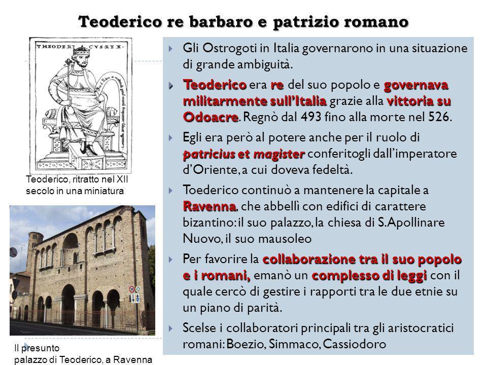 Teoderico re barbaro e patrizio romano