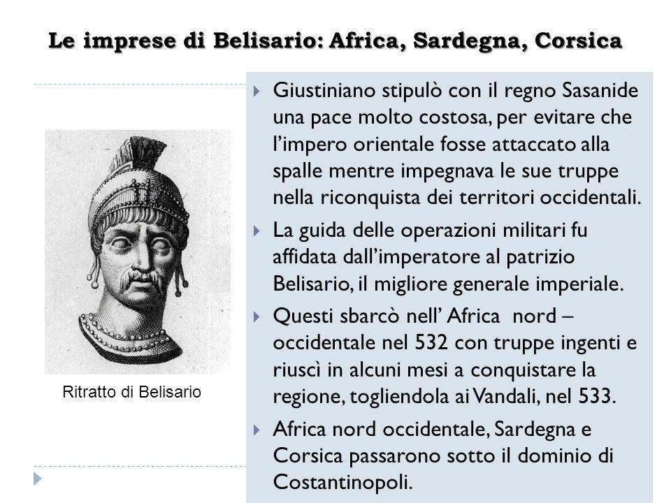 Le imprese di Belisario: Africa, Sardegna, Corsica