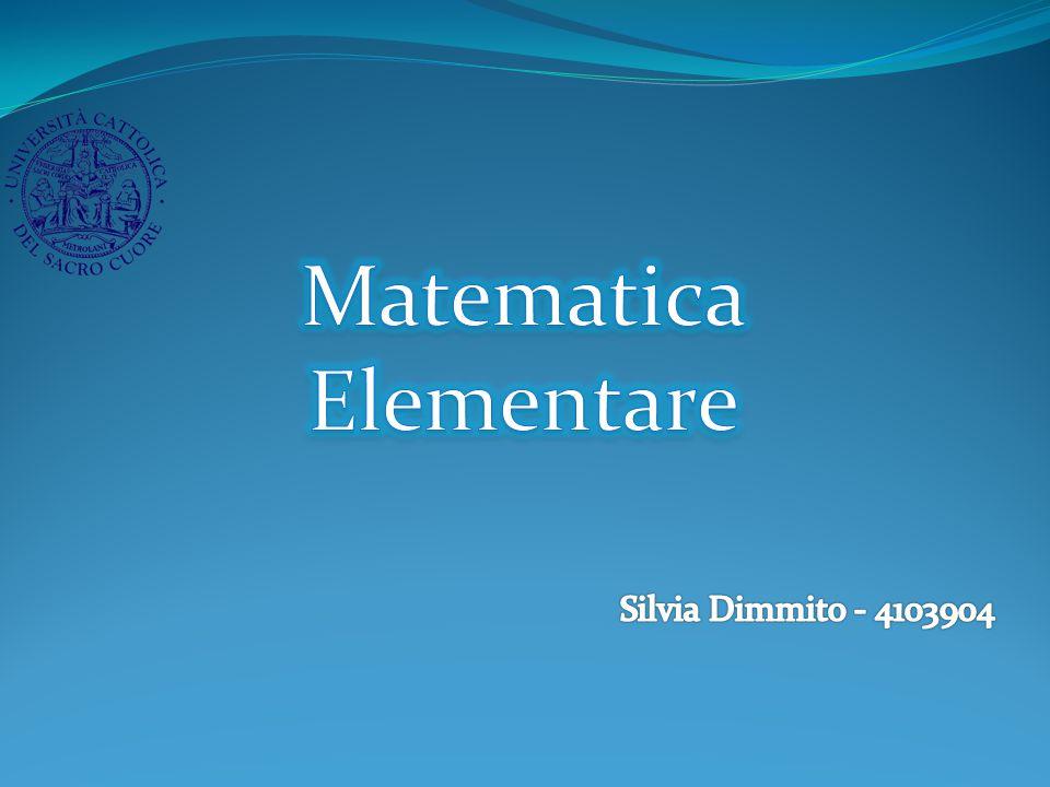 Matematica Elementare Silvia Dimmito - 4103904