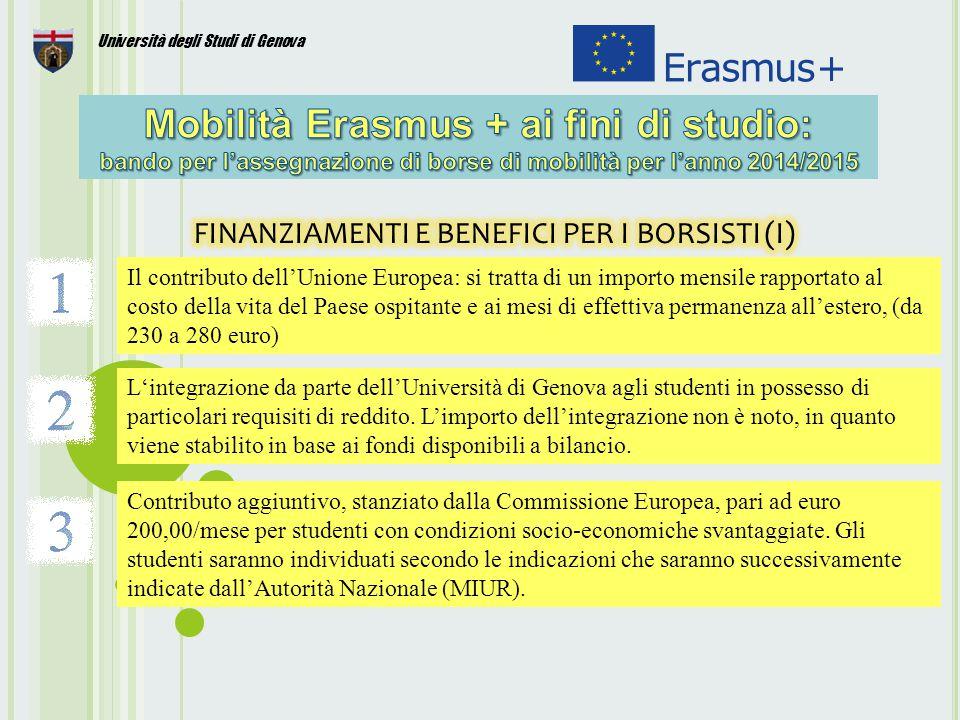 FINANZIAMENTI E BENEFICI PER I BORSISTI (I)