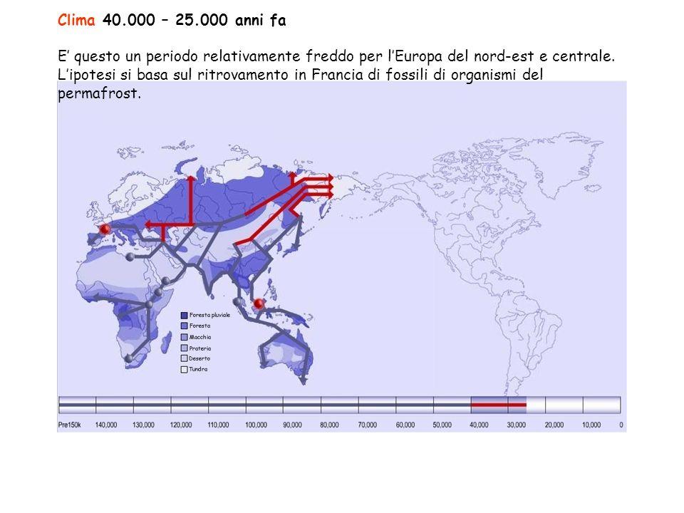 Clima 40.000 – 25.000 anni fa