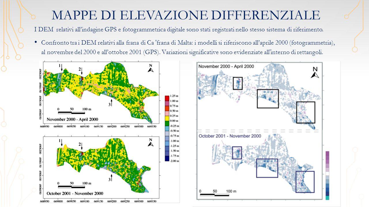Mappe di elevazione differenziale