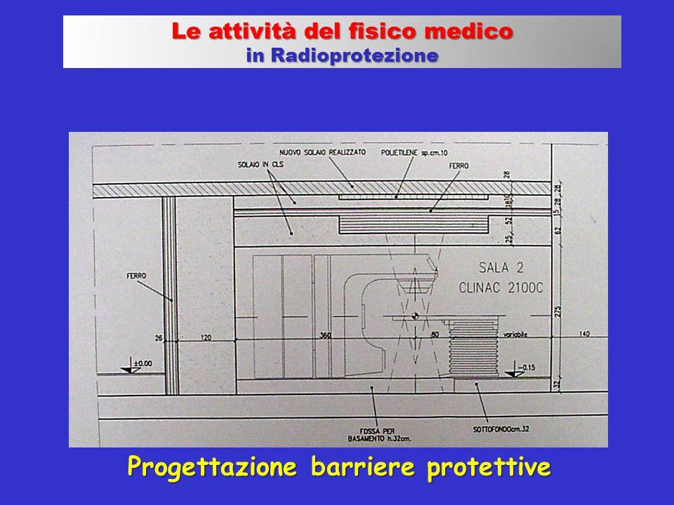 Le attività del fisico medico Progettazione barriere protettive