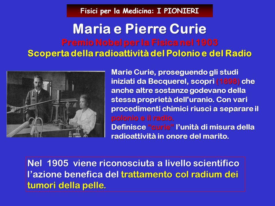 Maria e Pierre Curie Premio Nobel per la Fisica nel 1903