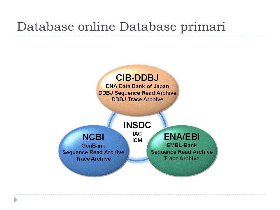 Database online Database primari