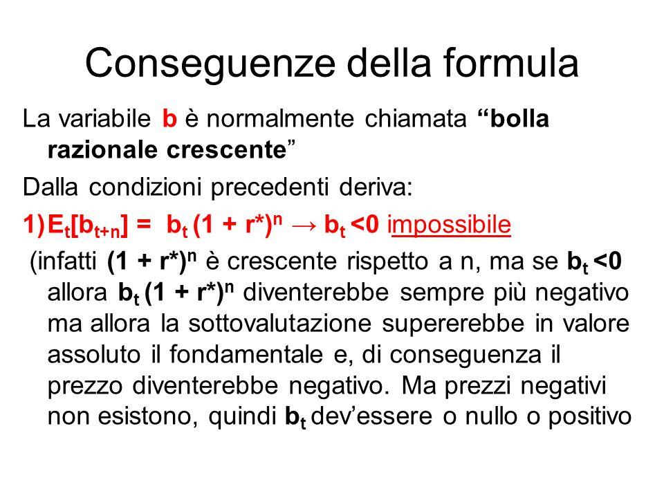 Conseguenze della formula