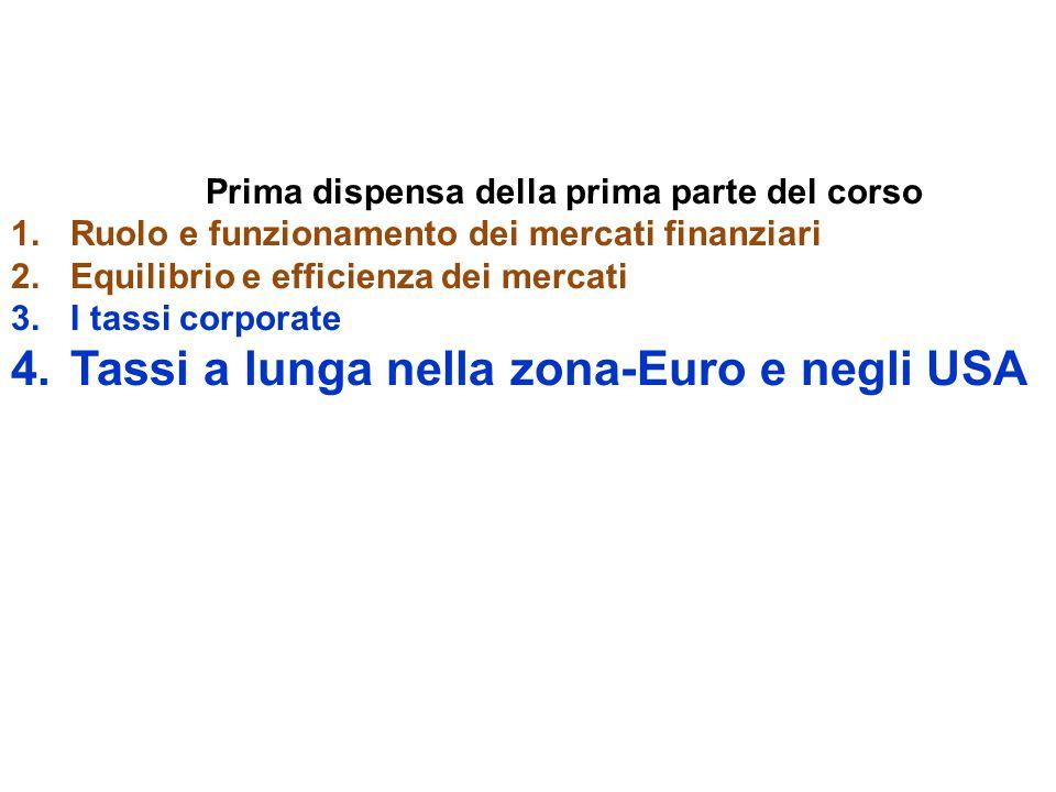 Tassi a lunga nella zona-Euro e negli USA