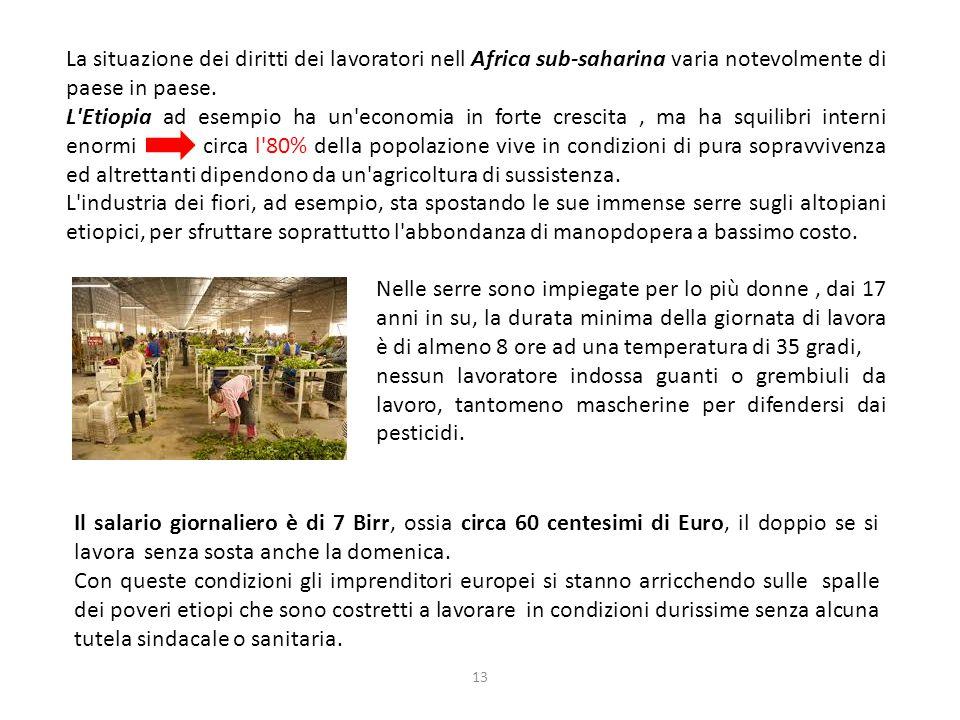 La situazione dei diritti dei lavoratori nell Africa sub-saharina varia notevolmente di paese in paese.