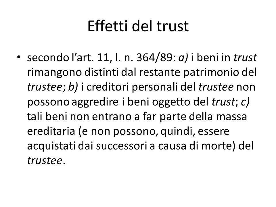 Effetti del trust