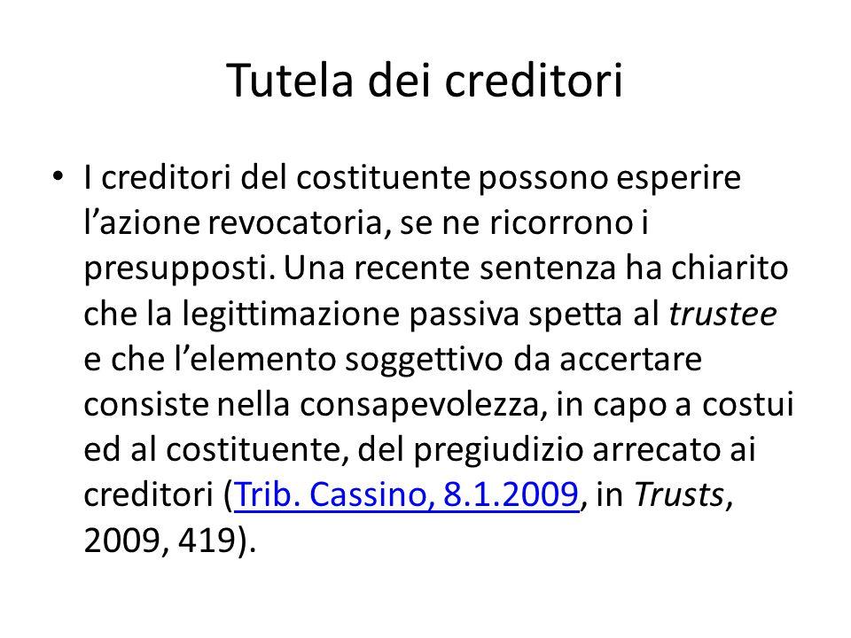 Tutela dei creditori