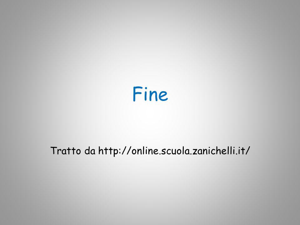 Tratto da http://online.scuola.zanichelli.it/