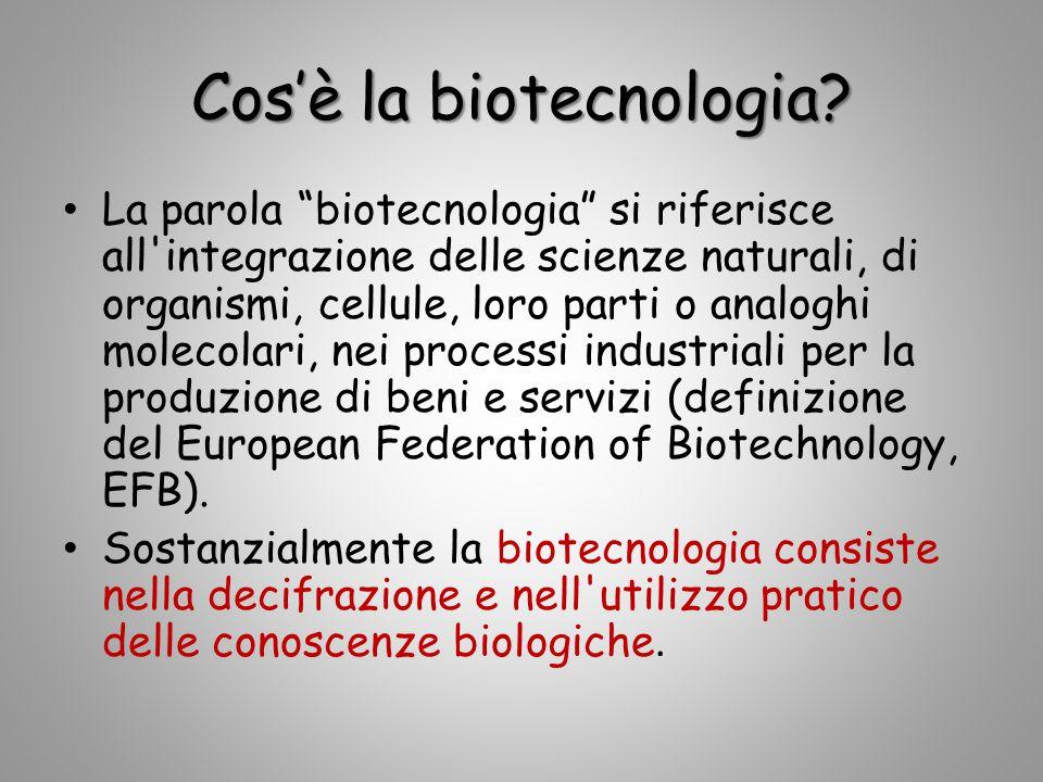 Cos'è la biotecnologia