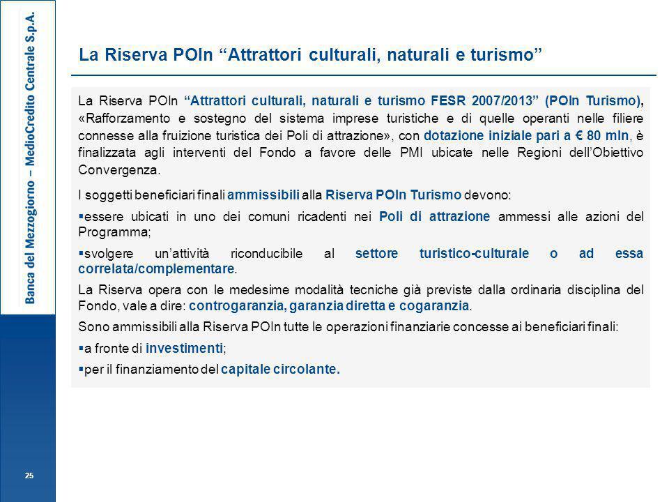 La Riserva POIn Attrattori culturali, naturali e turismo