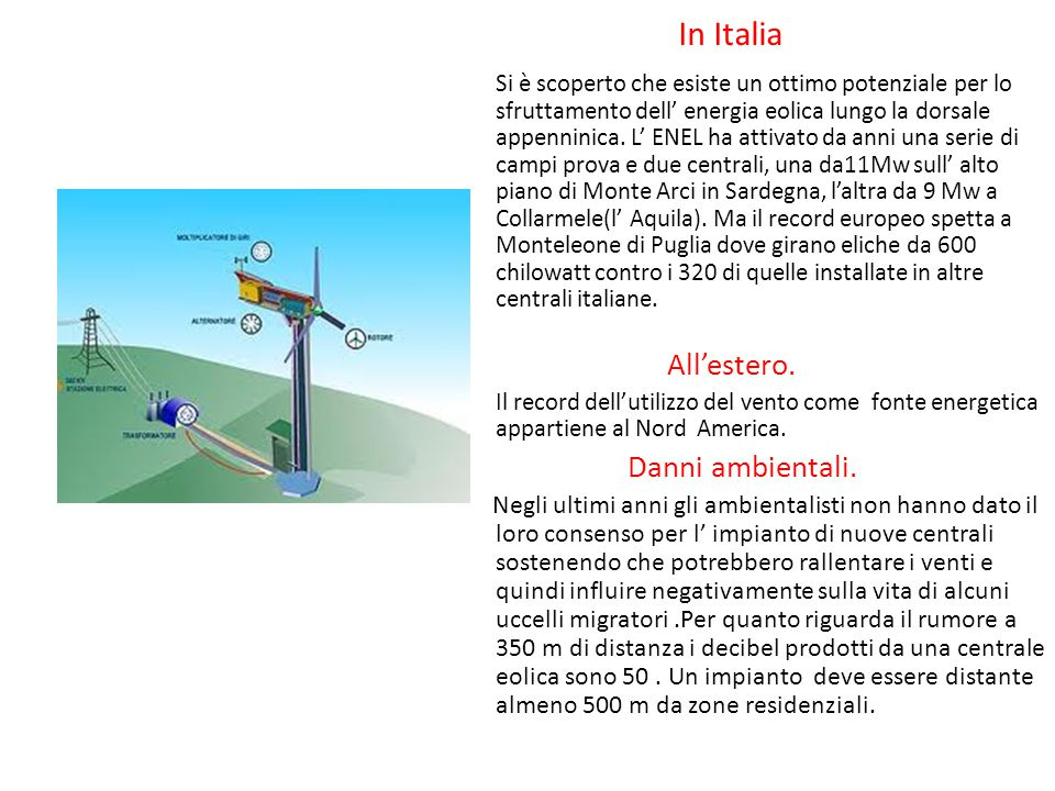 In Italia All'estero. Danni ambientali.
