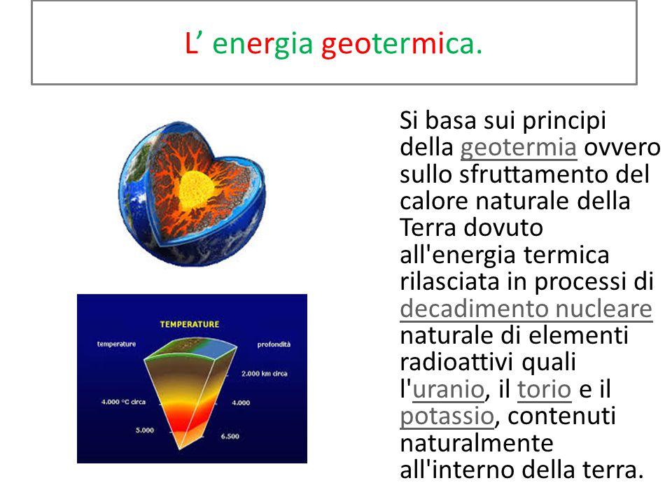 L' energia geotermica.