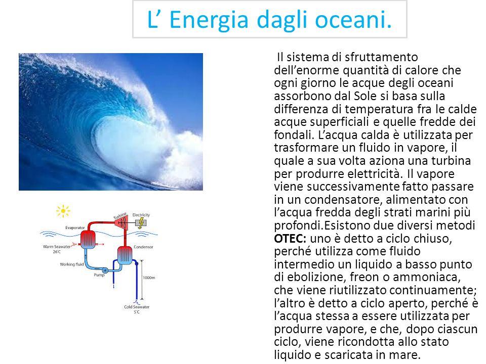 L' Energia dagli oceani.