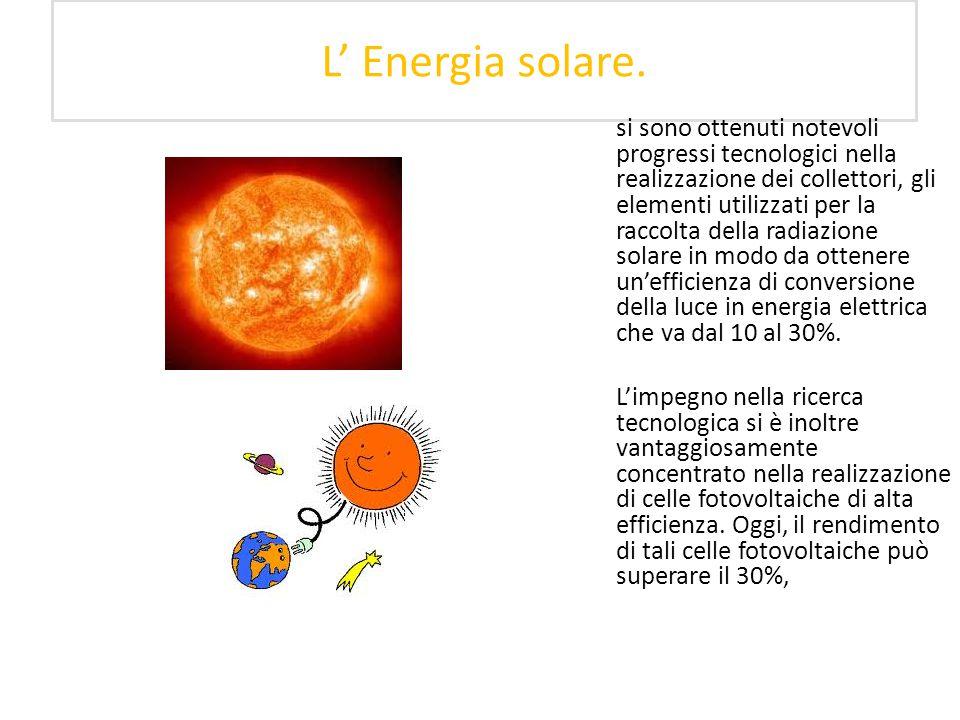 L' Energia solare.
