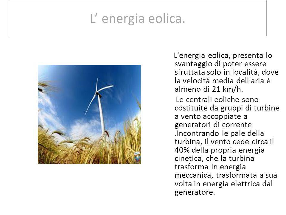 L' energia eolica.