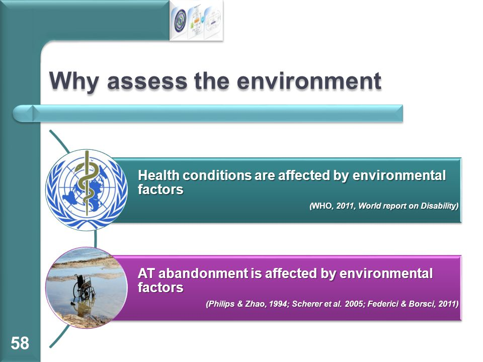 Why assess the environment