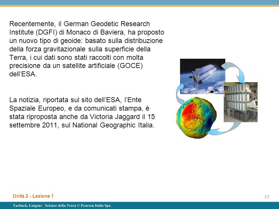 Recentemente, il German Geodetic Research Institute (DGFI) di Monaco di Baviera, ha proposto un nuovo tipo di geoide: basato sulla distribuzione della forza gravitazionale sulla superficie della Terra, i cui dati sono stati raccolti con molta precisione da un satellite artificiale (GOCE) dell'ESA.