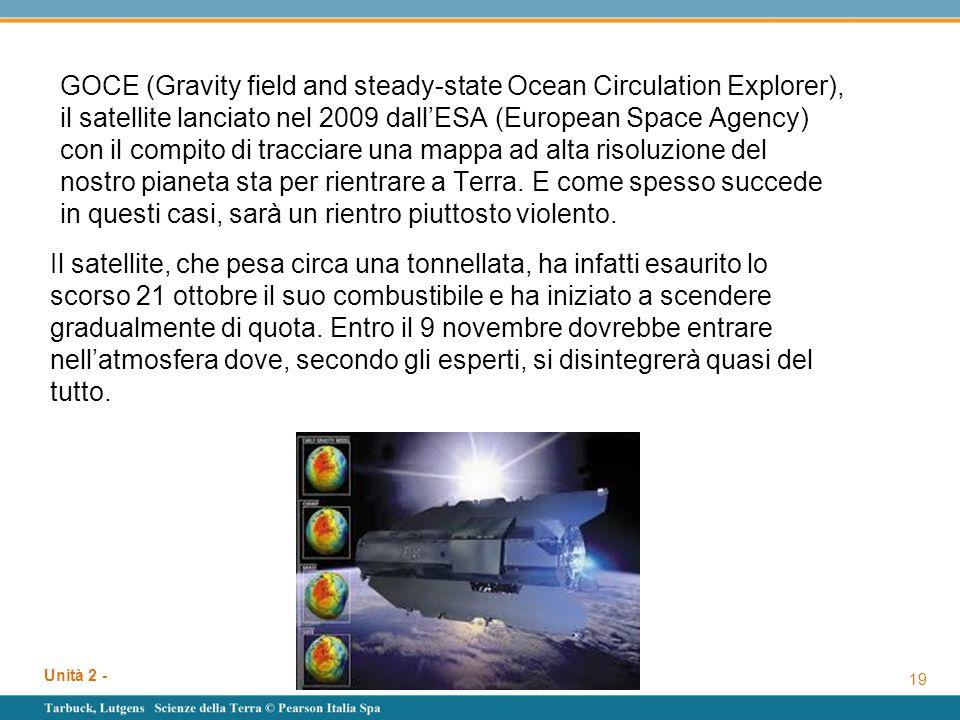 GOCE (Gravity field and steady-state Ocean Circulation Explorer), il satellite lanciato nel 2009 dall'ESA (European Space Agency) con il compito di tracciare una mappa ad alta risoluzione del nostro pianeta sta per rientrare a Terra. E come spesso succede in questi casi, sarà un rientro piuttosto violento.