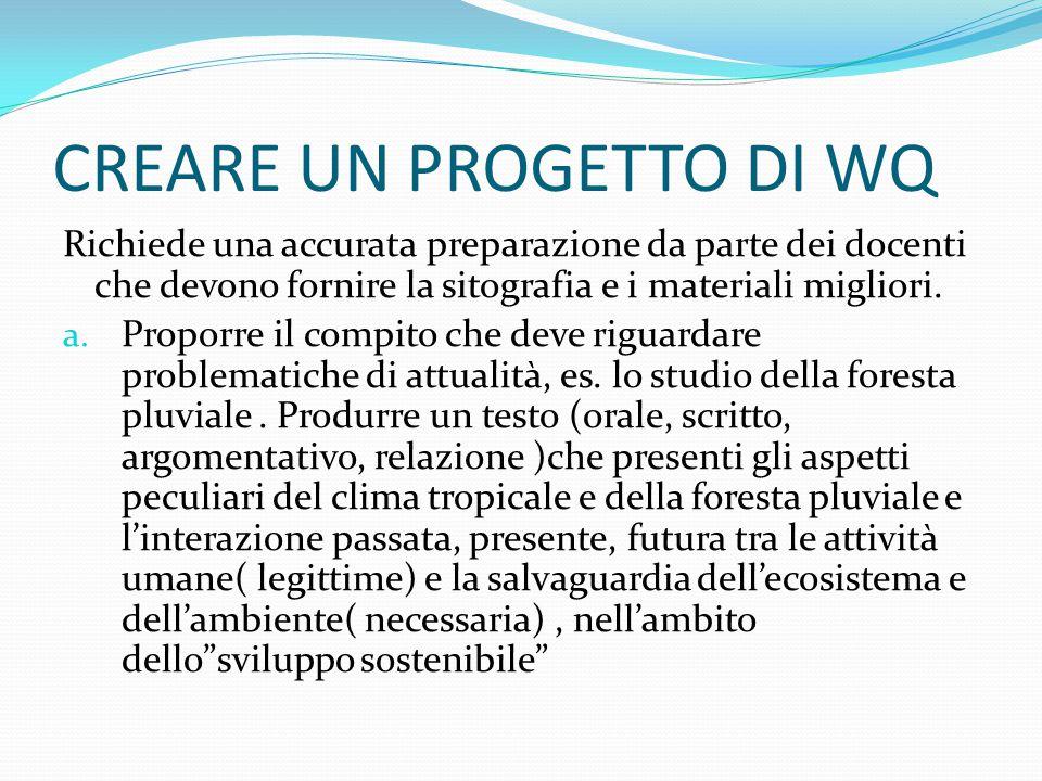 CREARE UN PROGETTO DI WQ