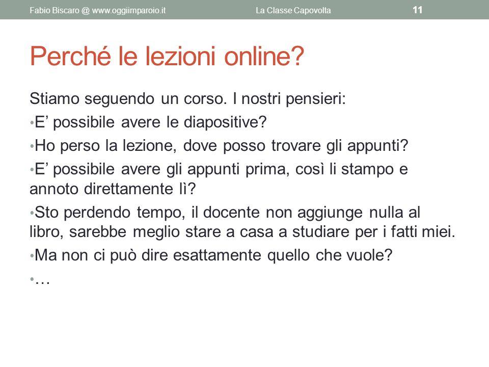 Perché le lezioni online
