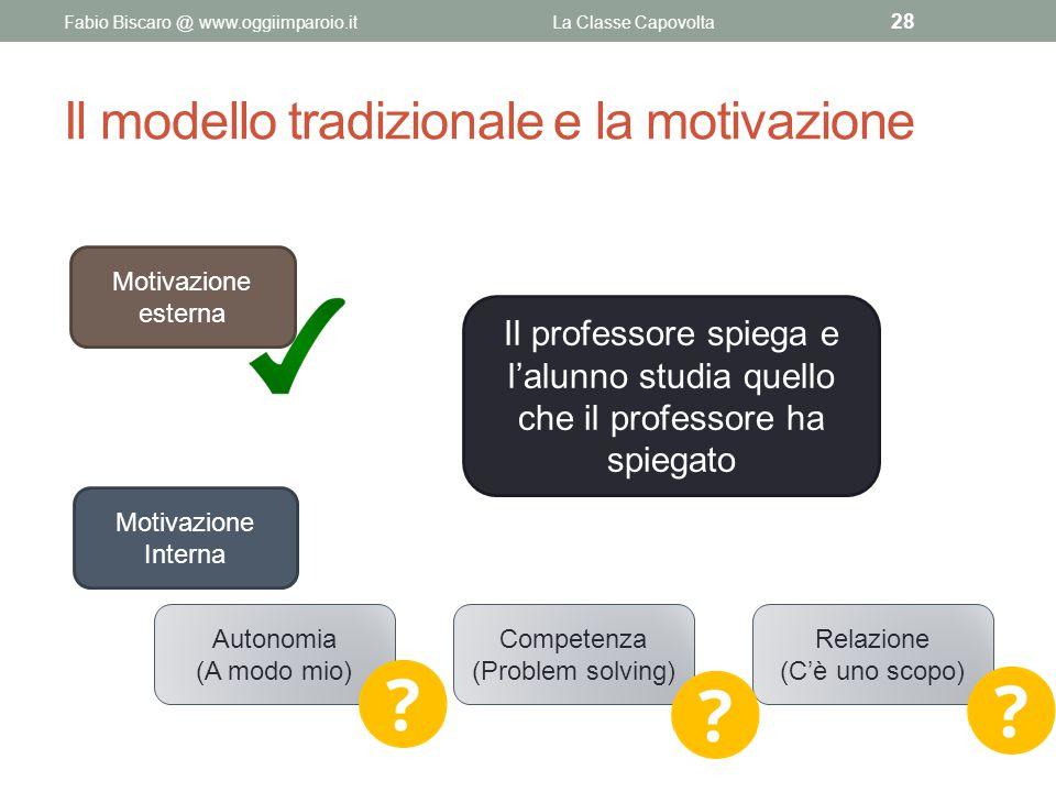 Il modello tradizionale e la motivazione