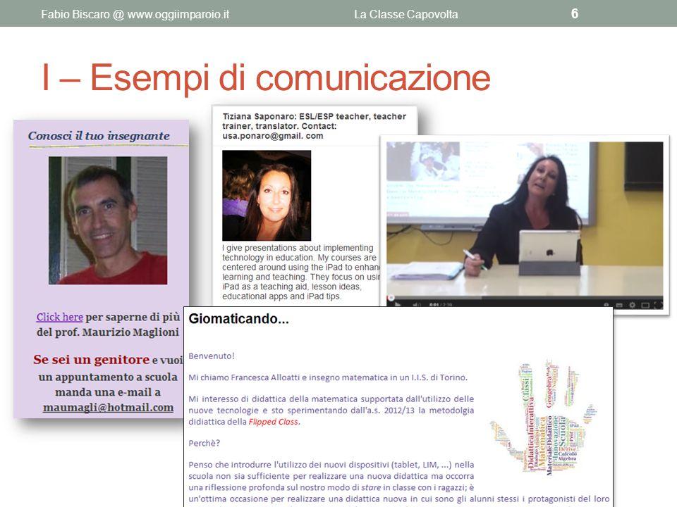 I – Esempi di comunicazione