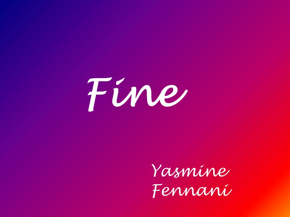 Fine Yasmine Fennani