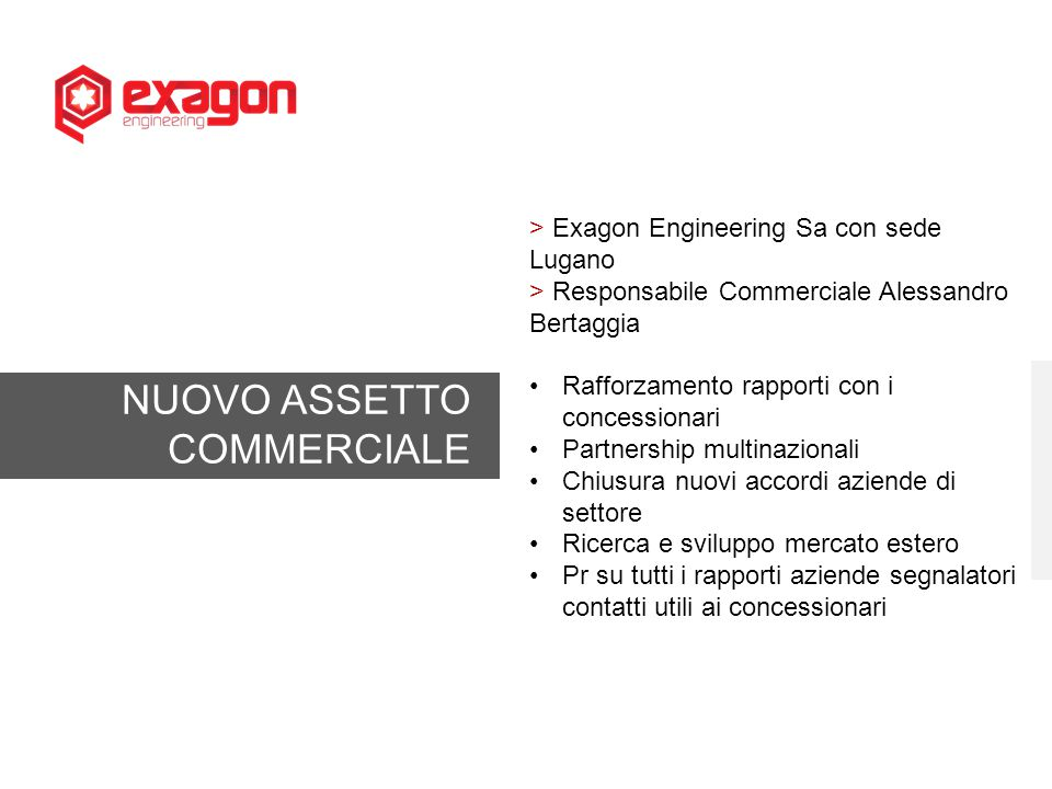 NUOVO ASSETTO COMMERCIALE