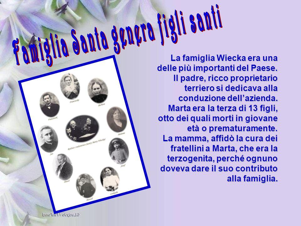 Famiglia Santa genera figli santi