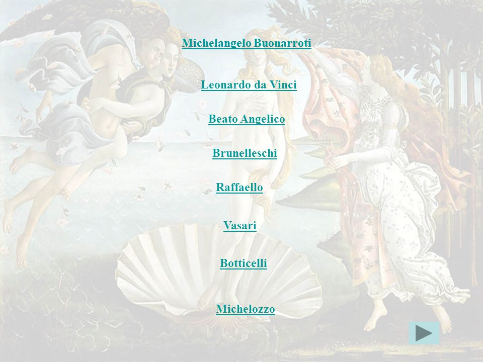 indice Michelangelo Buonarroti Michelangelo Buonarroti