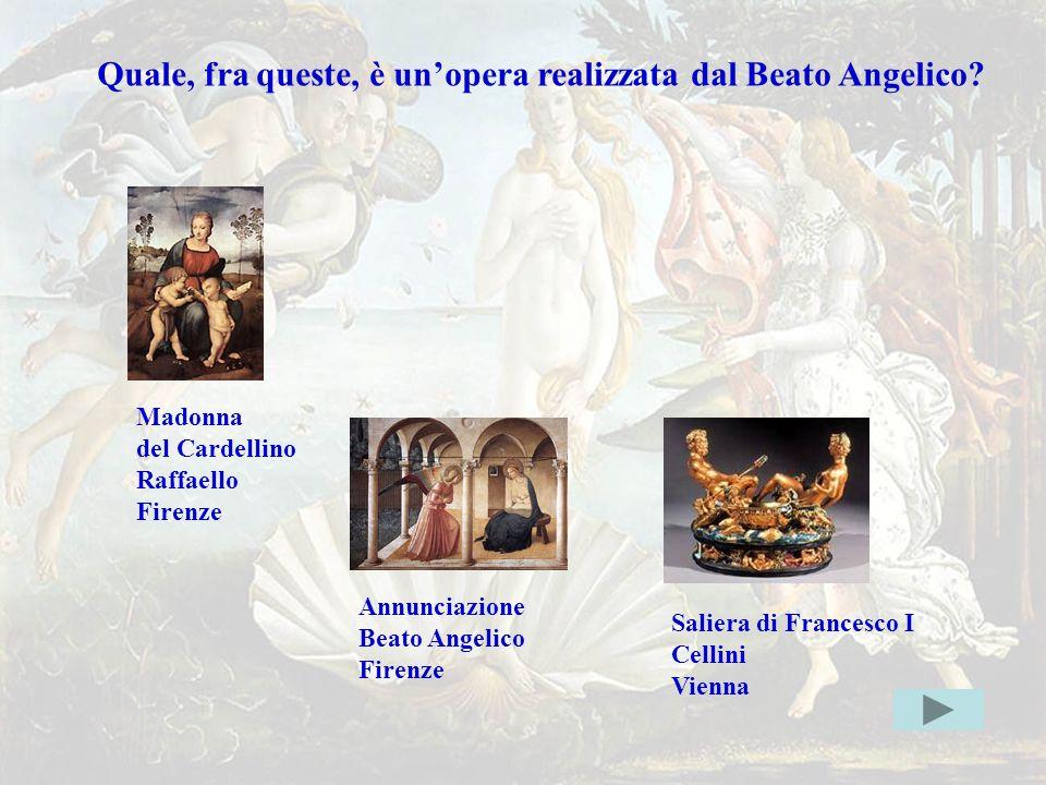 beatogiusto Quale, fra queste, è un'opera realizzata dal Beato Angelico Madonna. del Cardellino.