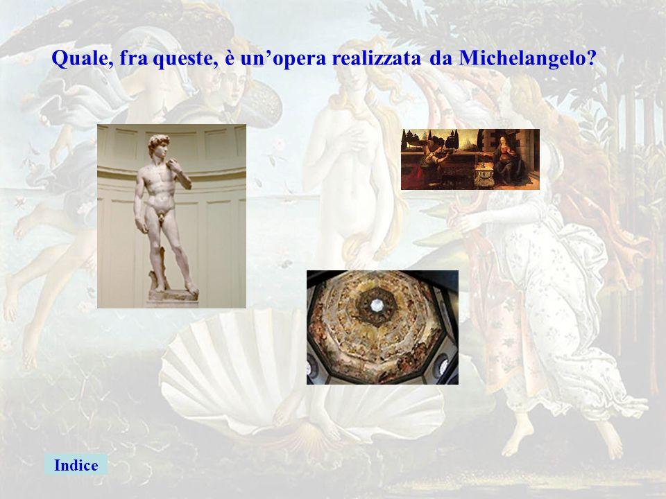 michel2 Quale, fra queste, è un'opera realizzata da Michelangelo